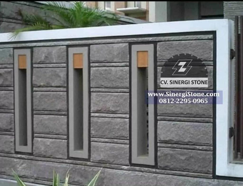 Gambar Batu Alam Andesit Cirebon Jawa Barat untuk Dinding Pagar Rumah 2019