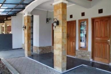 gambar model desain tiang teras rumah minimalis nan mewah