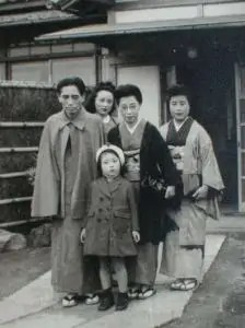 宮城道雄先生ご家族と