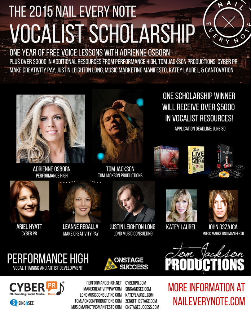 """The 2015 """"Nail Every Note"""" Vocalist Scholarship"""