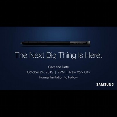 Samsung The Next Big Thing on 24 Oct 2012