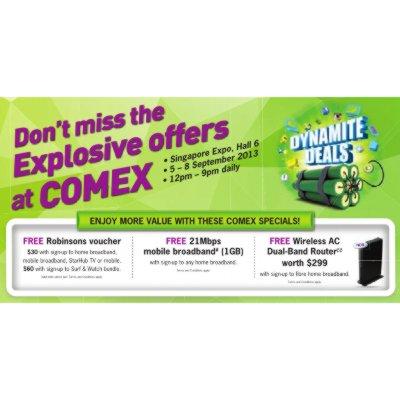 COMEX 2013 - StarHub Promotions