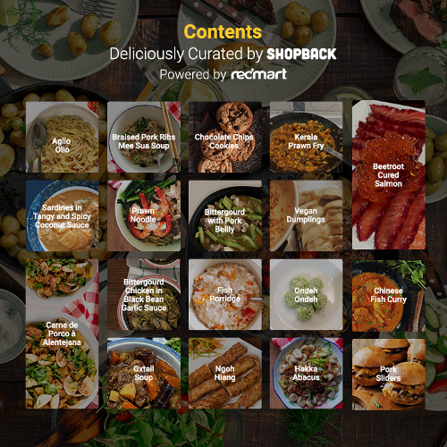 Check out ShopBack RedMart's FREE CookBook here