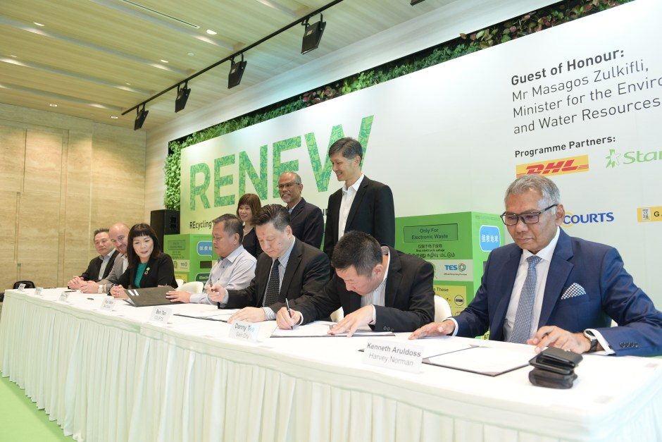 Signing of MOU between retailers, StarHub, DHL and TES