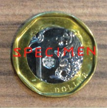"Singapore's ""lucky"" octagonal one-dollar coin"