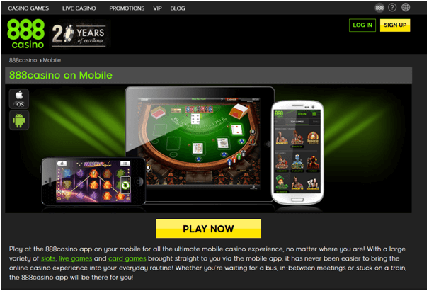 888 casino Singapore- Play with mobile