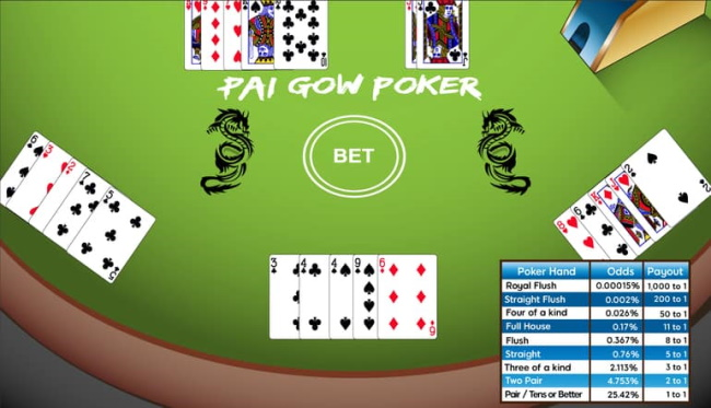 Beginners guide to Play Pai Gow Poker