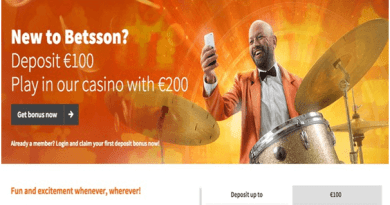 Betsson Bonuses at Casino