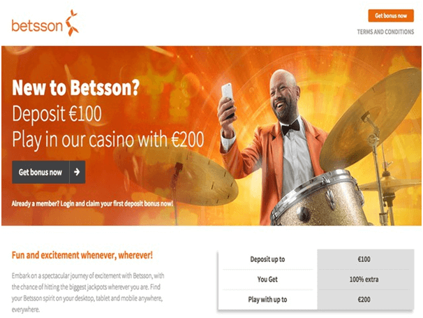Betsson Bonuses at Casino