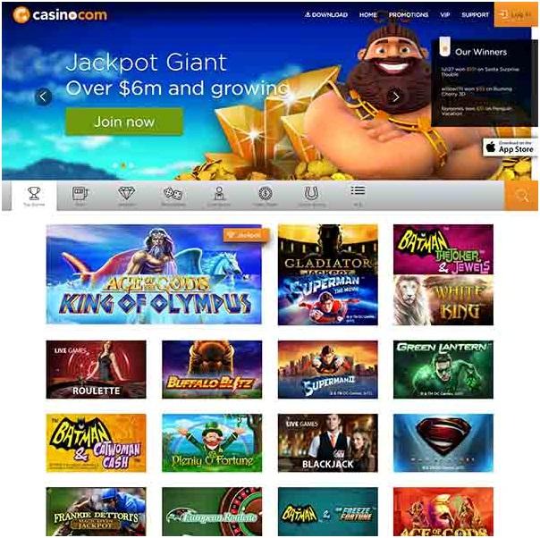 Casino.com mobile slots