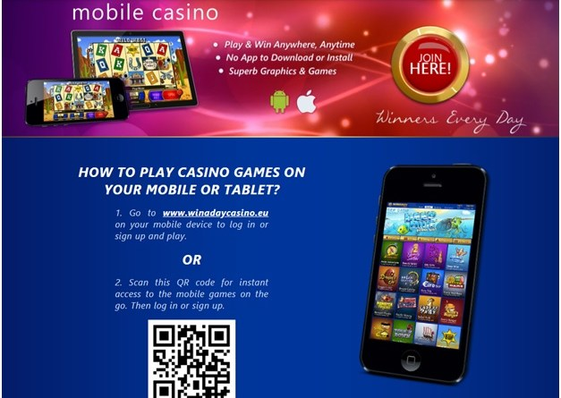 How to play slots at Win A Day Casino on mobile