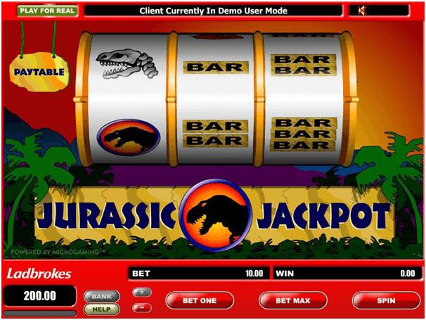 Jurassic Jackpot Big Reel