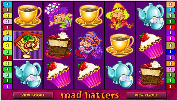 Mad hatters pokie symbols