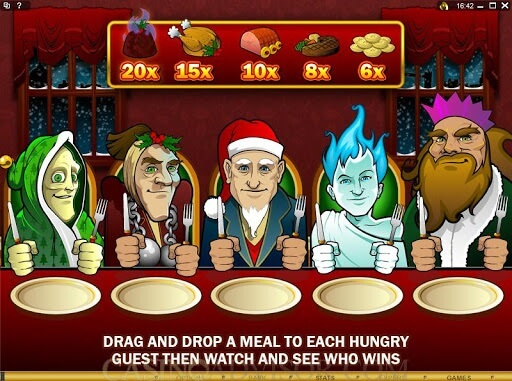 Scrooge slot game paytable