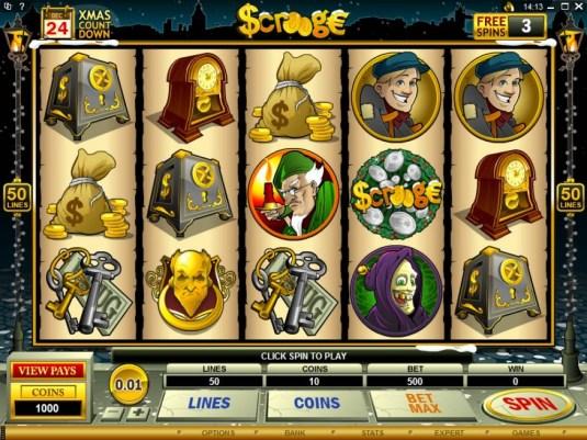 Scrooge slot game symbols