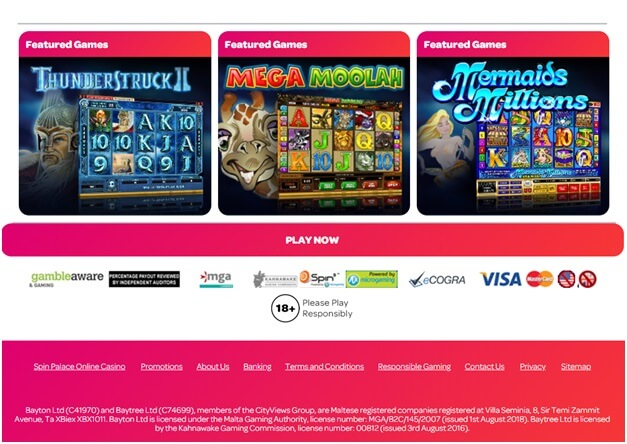 Spin Palace casino deposits- Singapore play