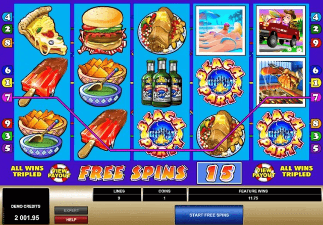 Free spins round in Spring Break