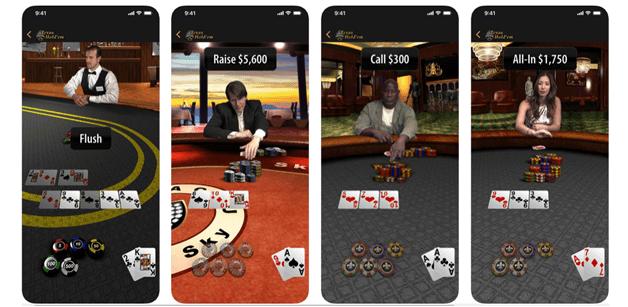 Texas Holdem Poker free app for iPhone mobile