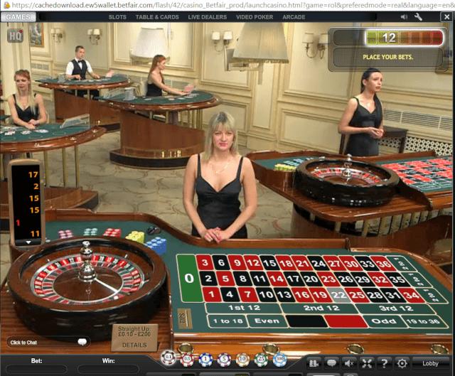 betfair casino live