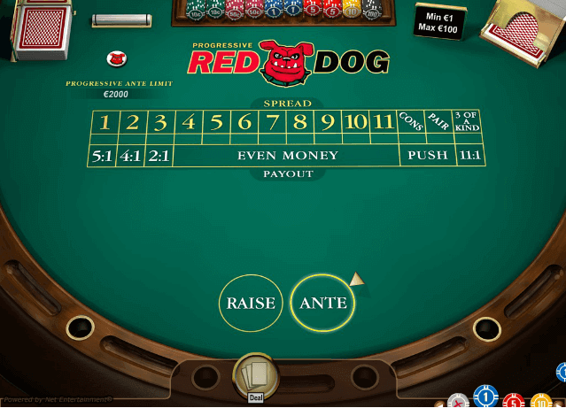 red dog poker game features