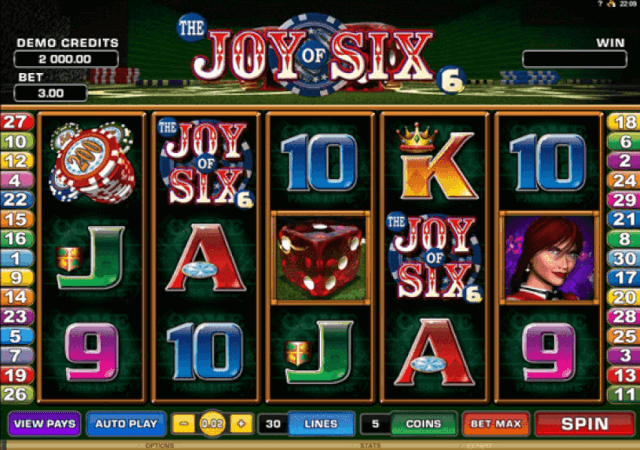 the joy of six slot symbol