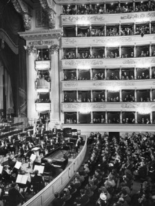 The audience at La Scala