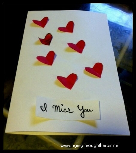 "Deployment Idea 5# – ""I Miss You"" Cards"