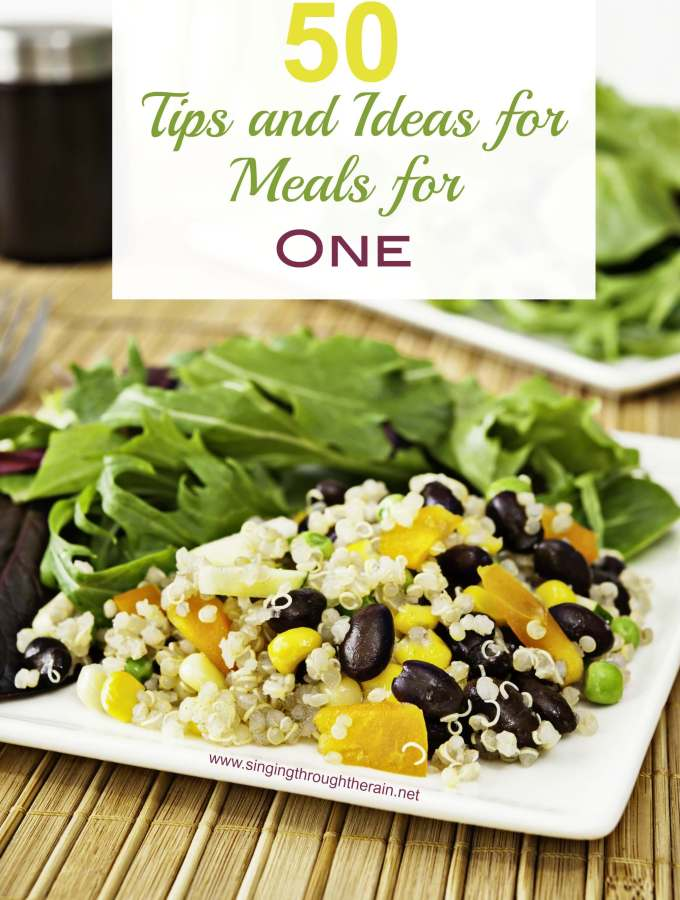 50 Tips and Ideas for Meals for One
