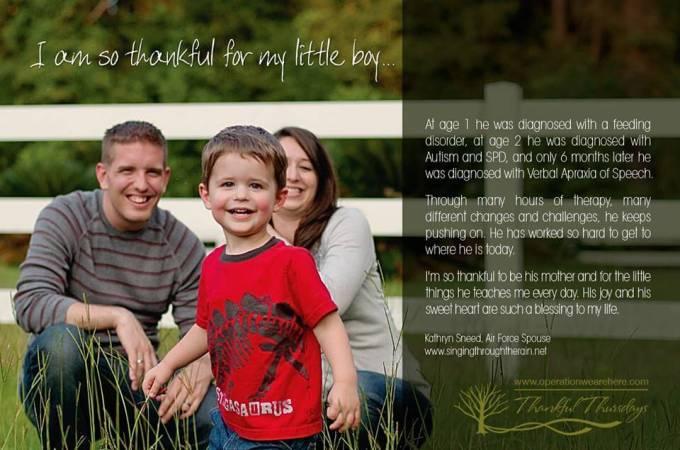 Thankful Thursday: I'm so Thankful for my Little Boy