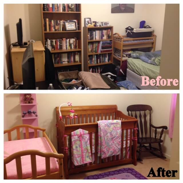Elizabeth's Room: How to Turn a Small Room Into a Nursery