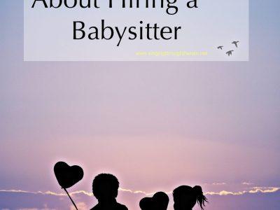 Guilty About Hiring a Babysitter