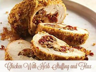 Chicken With Herb Stuffing and Flax