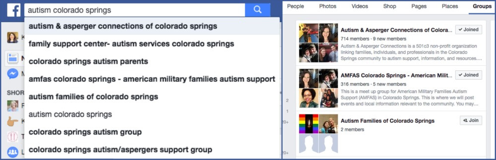 Facebook Search Special Needs Groups