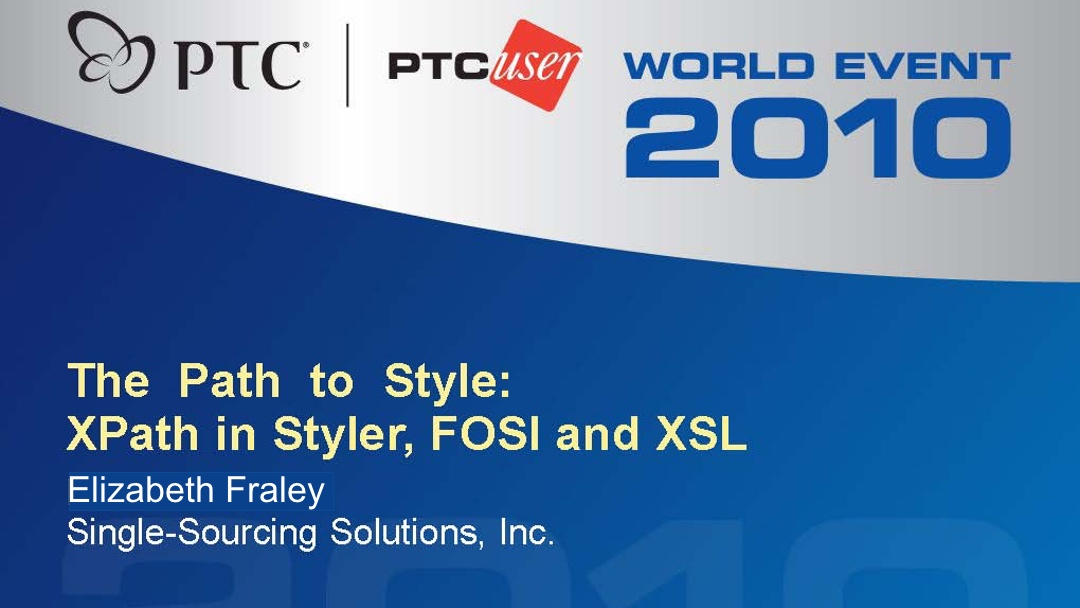 The Path to Style: XPath in Styler, FOSI, and XSL