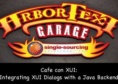 Cafe con UI: Integrating XUI Dialogs with a Java backend