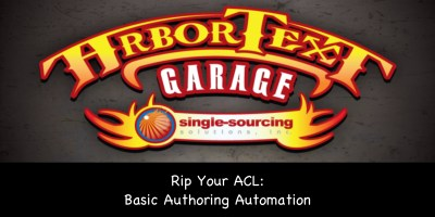 Rip Your ACL: Basic authoring automation in Arbortext