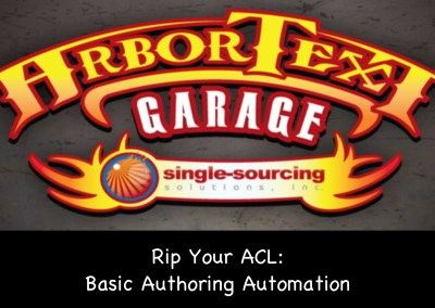 Rip Your ACL: Basic authoring automation