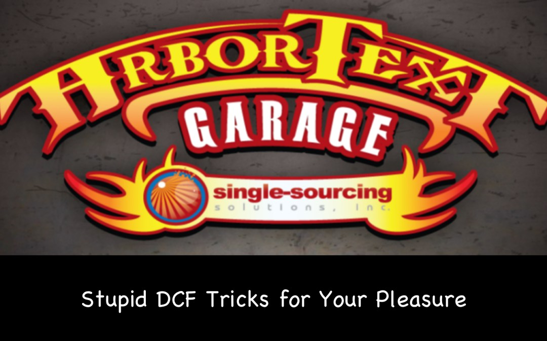 Stupid DCF Tricks for Your Pleasure