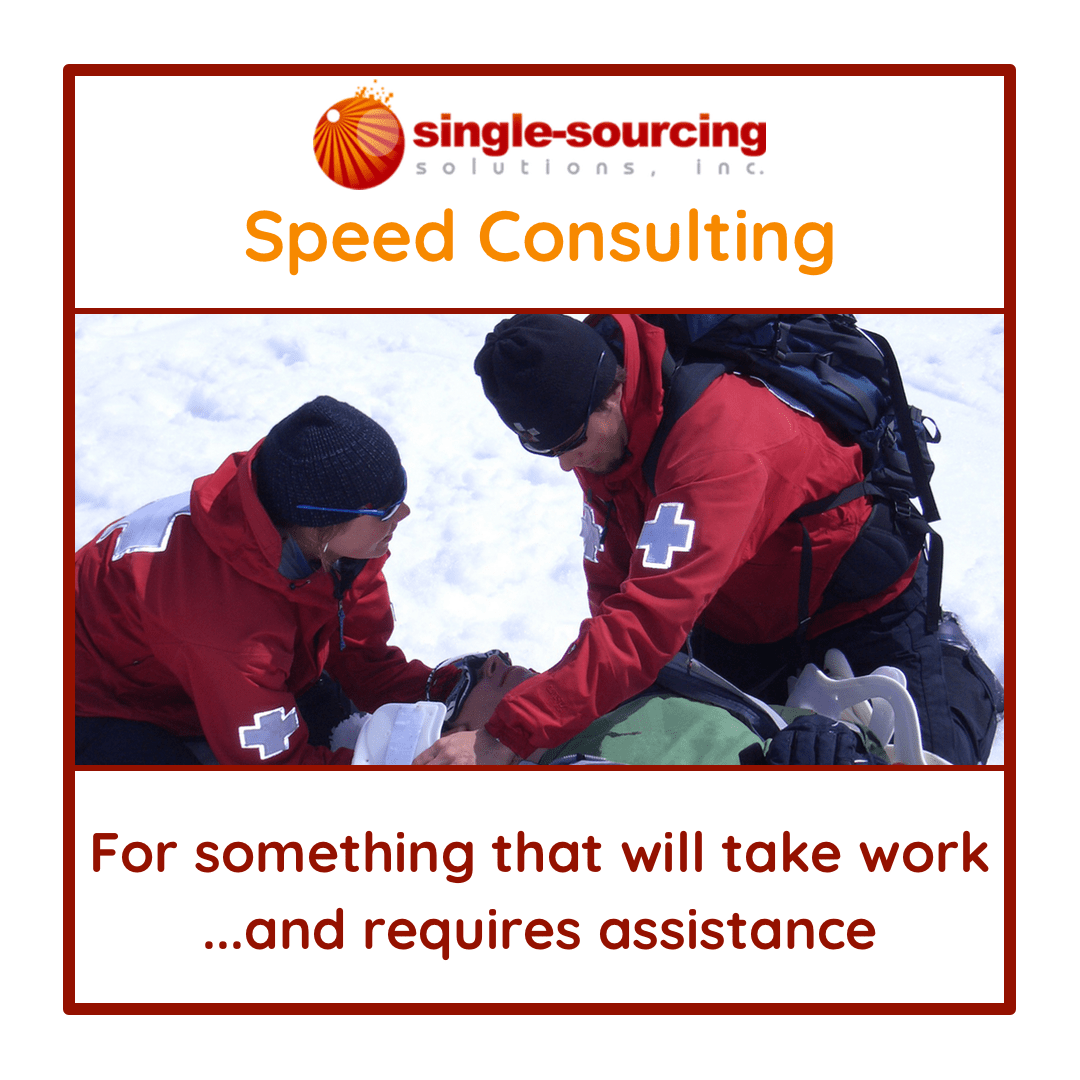 Get Help Now: Speed Consulting - Single-Sourcing Solutions