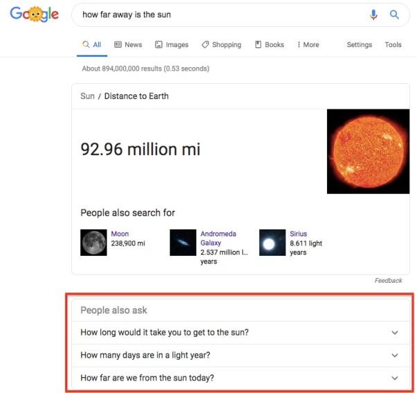 Chiedono anche le persone di Google