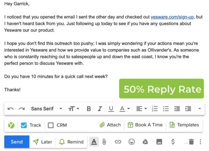 E-mail personalizzata