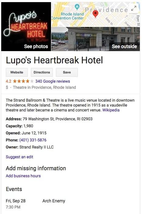 Lupos Heartbreak Hotel 1
