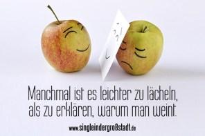 Spruch: Manchmal ist es leichter zu lächeln …