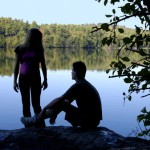 Couple by a Swedish lake