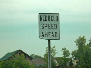 Traffic Sign - Reduce Speed