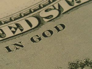 """Give me's? """"In God"""" printed on money should show giving"""