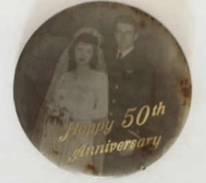 Grandma & Grandpa's 50th Anniversary Pin