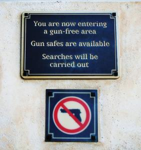 Gun Control Sign - Gun Free Zone