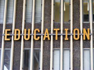 EDUCATION - word on academic building