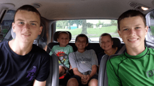 Boys in the minivan